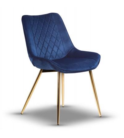 ADELLA GRANATOWE krzesło tapicerowane velvet