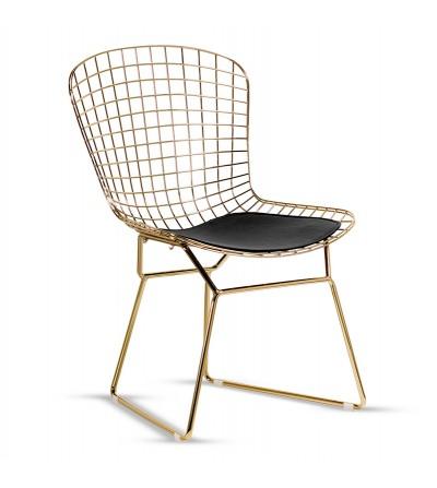 ERYK / NET metalowe druciane ażurowe krzesło