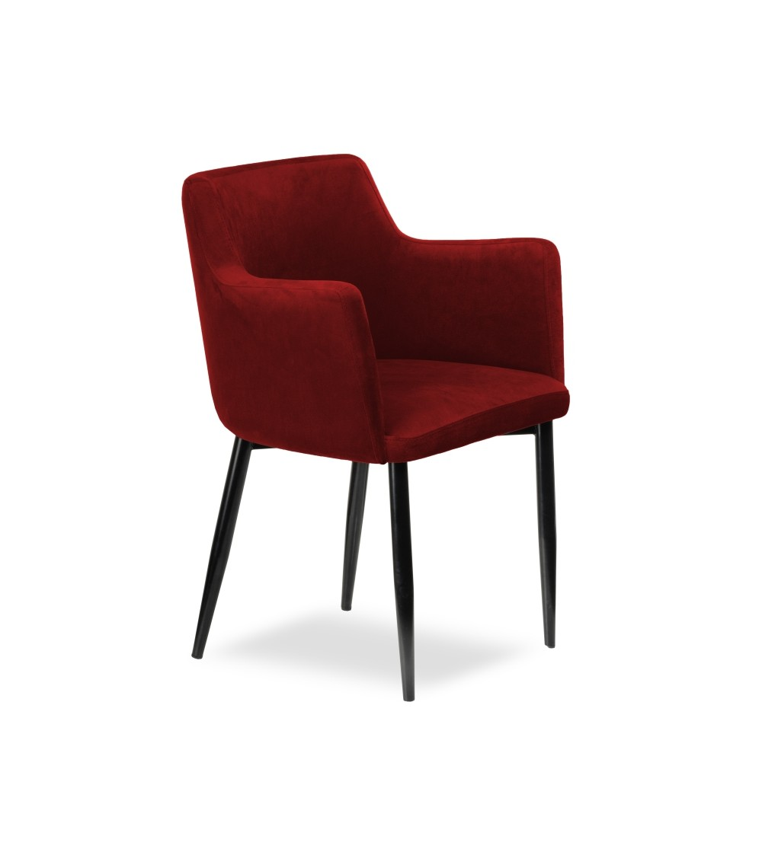 BARI BORDOWE krzesło tapicerowane velvet