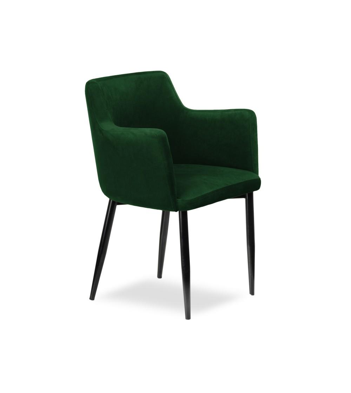 BARI ZIELONE krzesło tapicerowane velvet