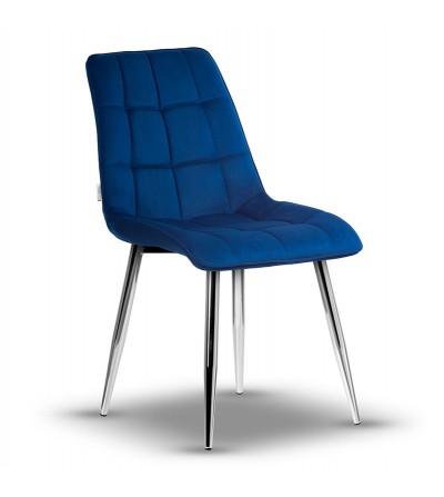 IKAR GRANATOWE krzesło tapicerowane velvet