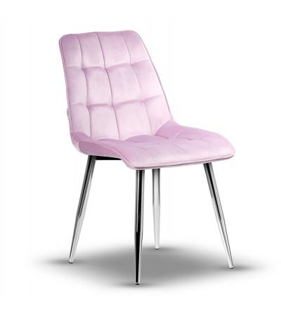 IKAR RÓŻOWE krzesło tapicerowane velvet