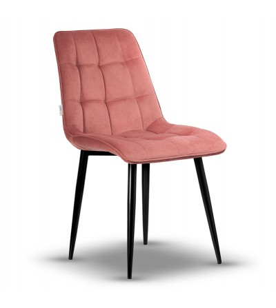 IKAR RÓŻOWY krzesło tapicerowane velvet