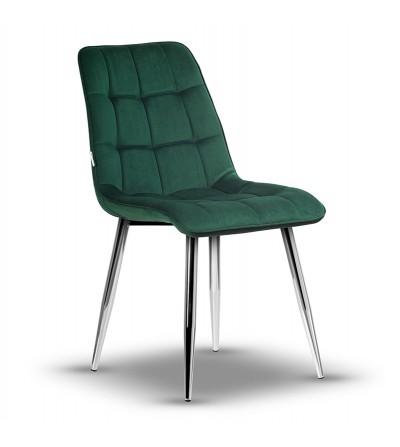 IKAR ZIELONE krzesło tapicerowane velvet