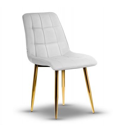 IKAR SZARE krzesło tapicerowane velvet
