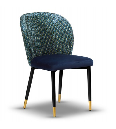 RIO CRUSH VELVET krzesło tapicerowane velvet