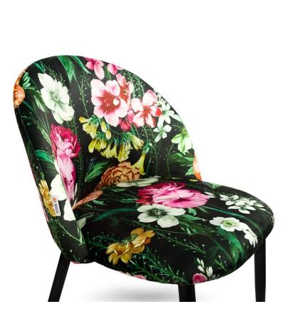SOUL KWIATY krzesło tapicerowane velvet