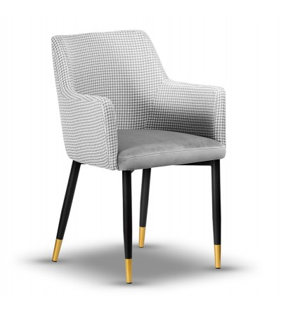 BARI PEPITKA krzesło tapicerowane