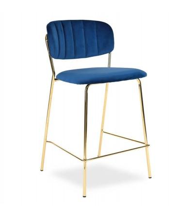 RITA GRANATOWE krzesło barowe hoker