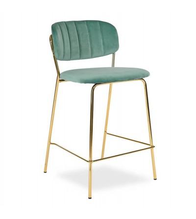 RITA MIĘTOWE krzesło barowe hoker