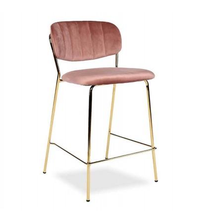 RITA RÓŻOWE krzesło barowe hoker