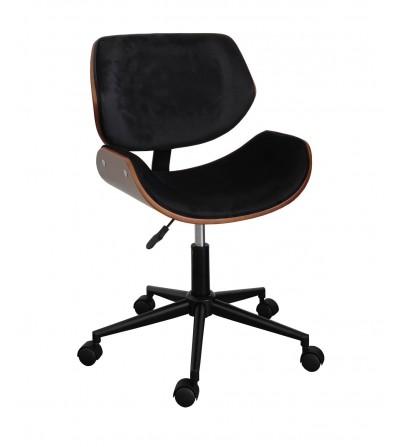 Fotel obrotowy FK-SK4 czarny velvet