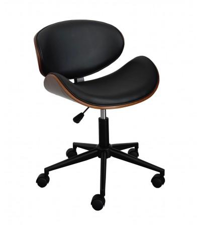 Fotel obrotowy FK-SK5 czarny ekoskóra