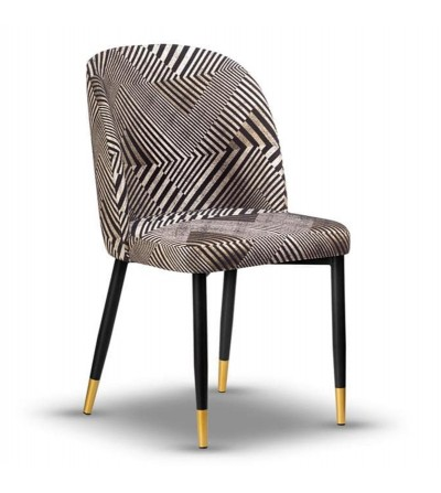 AMY BENTLEY krzesło tapicerowane velvet