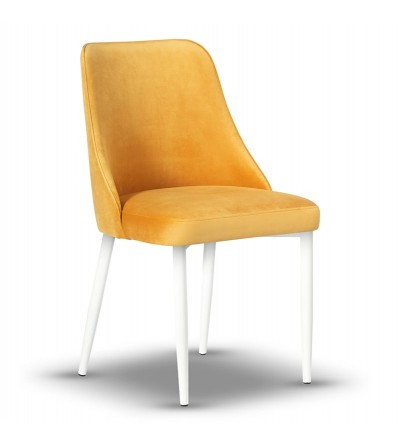 NATALIA MUSZTARDOWE krzesło tapicerowane velvet
