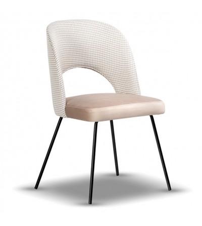 ZOYA PEPITKA krzesło tapicerowane velvet