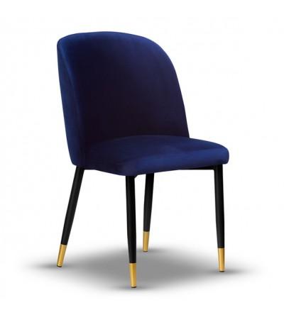 AMY GRANATOWE krzesło tapicerowane velvet