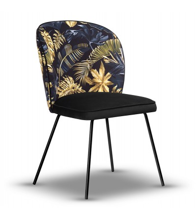 RIO WONDER krzesło tapicerowane velvet