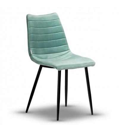 PABLO MIĘTOWE krzesło tapicerowane velvet