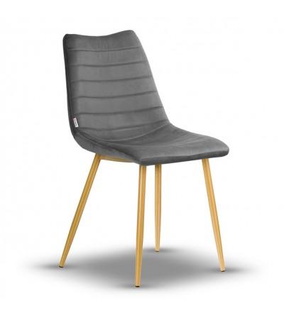 PABLO CIEMNY SZARY krzesło tapicerowane velvet
