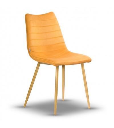PABLO MUSZTARDOWE krzesło tapicerowane velvet