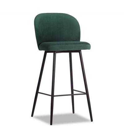 RIO ZIELONE krzesło barowe hoker velvet