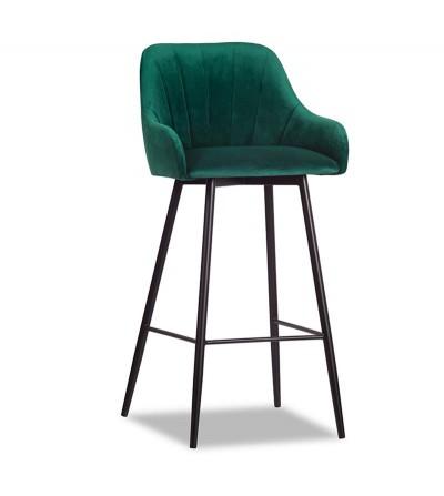 IVETT ZIELONE krzesło barowe hoker velvet