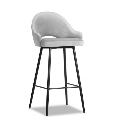 GLORIA SZARE krzesło barowe hoker velvet