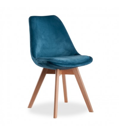 FELIX GRANATOWE krzesło tapicerowane velvet
