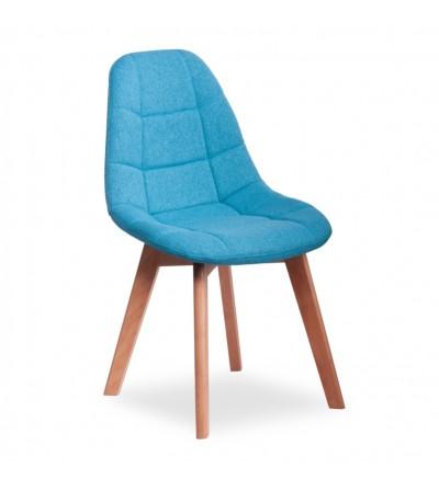 AMELIA TURKUSOWE krzesło tapicerowane