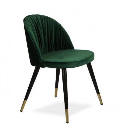 MONA ZIELONE krzesło tapicerowane velvet