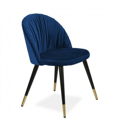 MONA GRANATOWE krzesło tapicerowane velvet