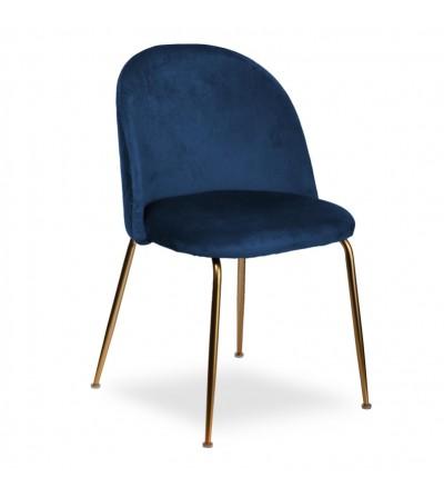 LEA GRANATOWE krzesło tapicerowane velvet