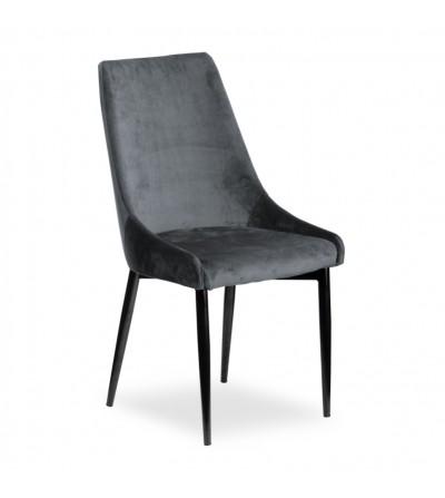 FAREL SZARE krzesło tapicerowane velvet