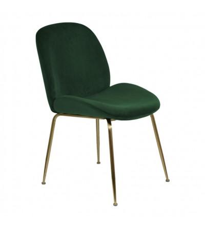 MODEST ZIELONE krzesło tapicerowane velvet