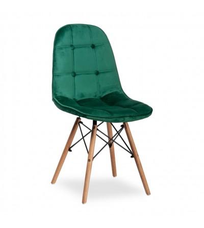 NINA ZIELONE krzesło tapicerowane velvet