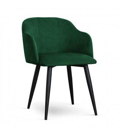DANY ZIELONE krzesło tapicerowane velvet
