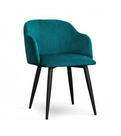 DANY TURKUSOWE krzesło tapicerowane velvet