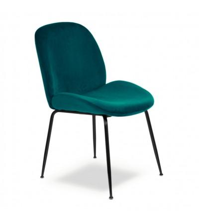 MODEST TURKUSOWE krzesło tapicerowane velvet