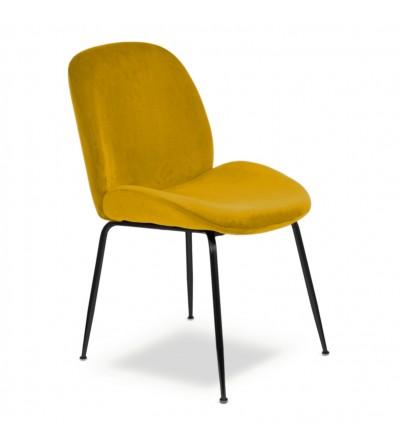 MODEST MIODOWE krzesło tapicerowane velvet