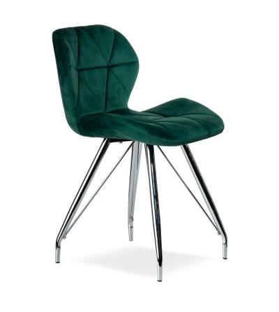 MAYA ZIELONE krzesło tapicerowane velvet