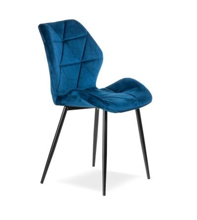 MAYA 2 GRANATOWE krzesło tapicerowane VELVET