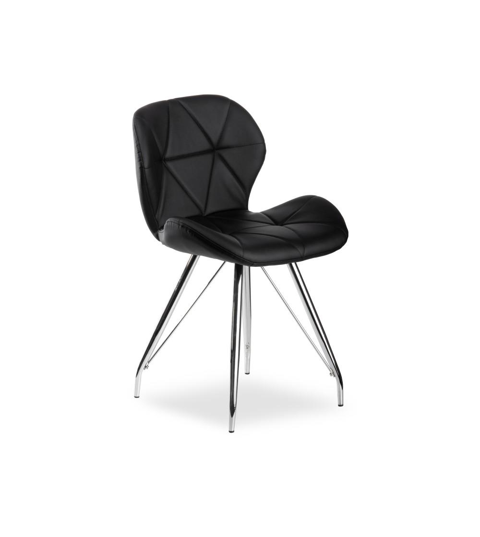 MAYA CZARNE krzesło tapicerowane