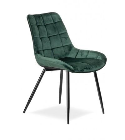 KAIR ZIELONE krzesło tapicerowane velvet