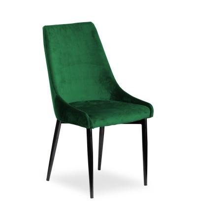 FAREL ZIELONE krzesło tapicerowane velvet
