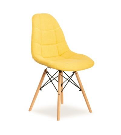 MAXI ŻÓŁTE krzesło tapicerowane
