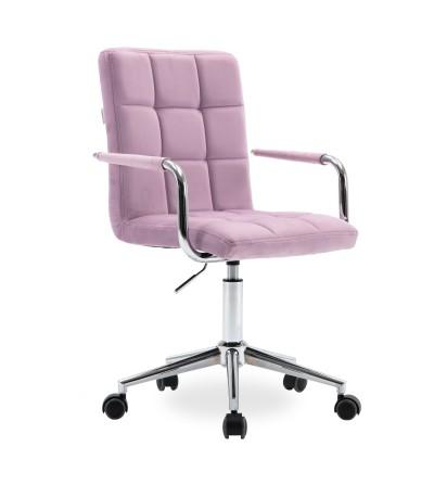 REY różowy fotel obrotowy tapicerowany