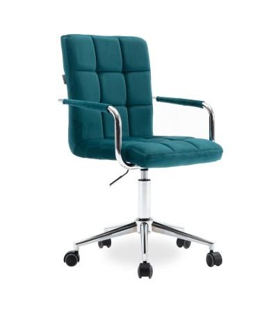 REY turkusowy fotel obrotowy tapicerowany