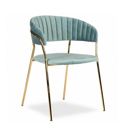 FEBA MIĘTOWY krzesło tapicerowane velvet
