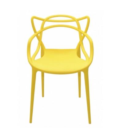 MASTERS ŻÓŁTE plastikowe krzesło